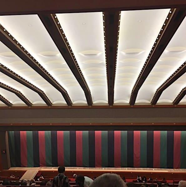 歌舞伎座の4階の客席