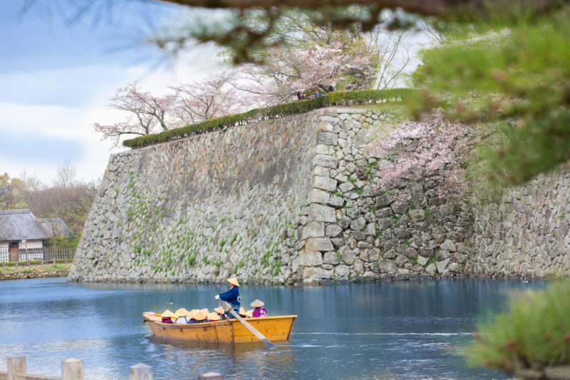姫路城のお堀
