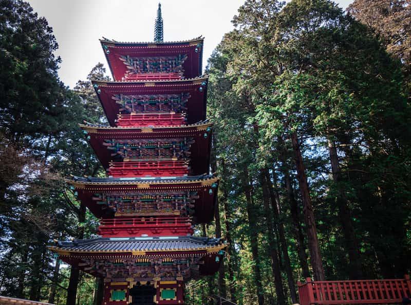 日光の五重の塔