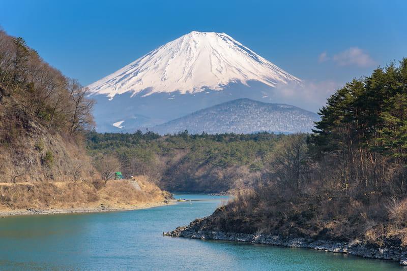 富士五湖からの富士山