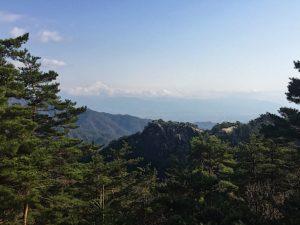 羅漢寺山の山頂からの眺め