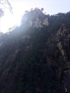 昇仙峡の岩山