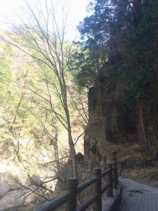 仙娥滝付近の遊歩道