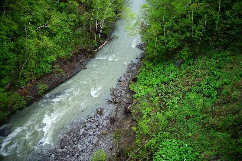 石狩川の支流