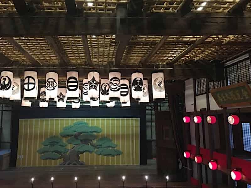 金丸座の歌舞伎舞台