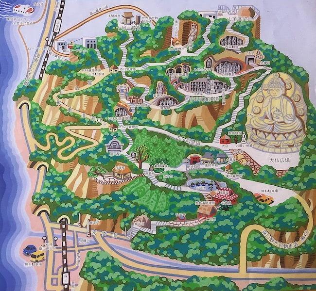 鋸山の観光マップ
