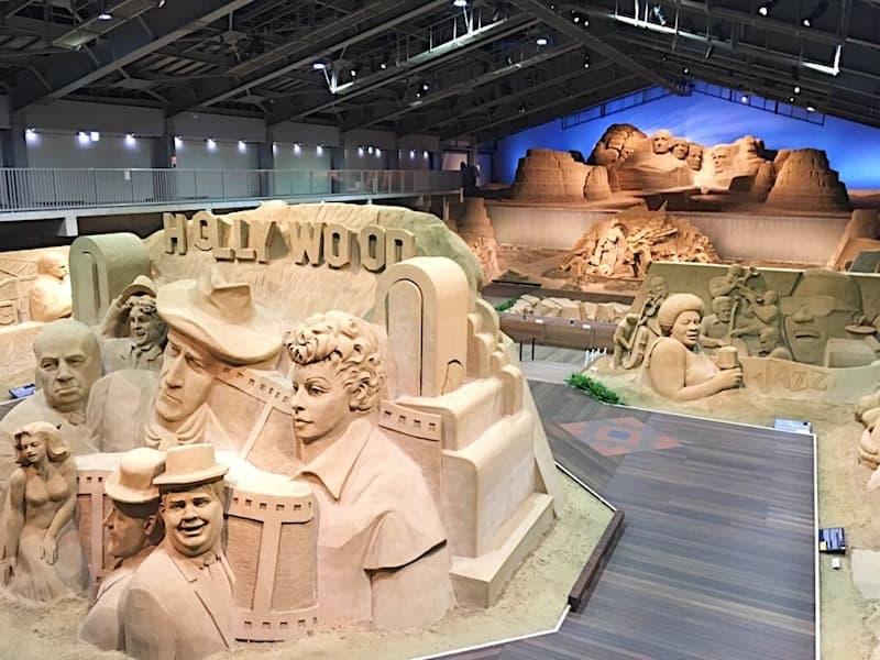 砂の美術館を上から見た図