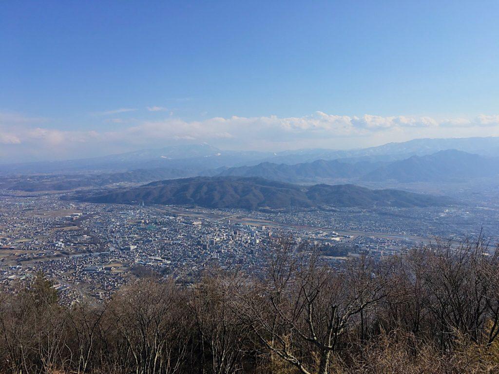 上田の太郎山から見た上田市街