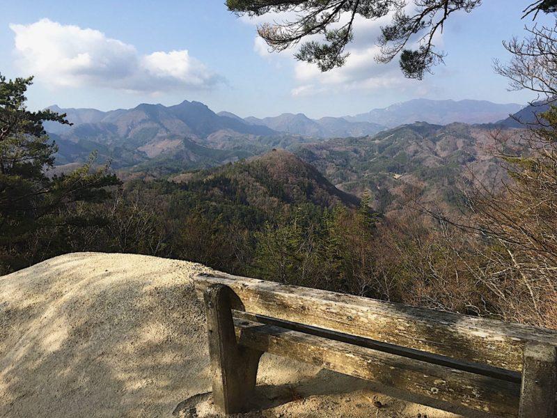 山頂付近からの眺め