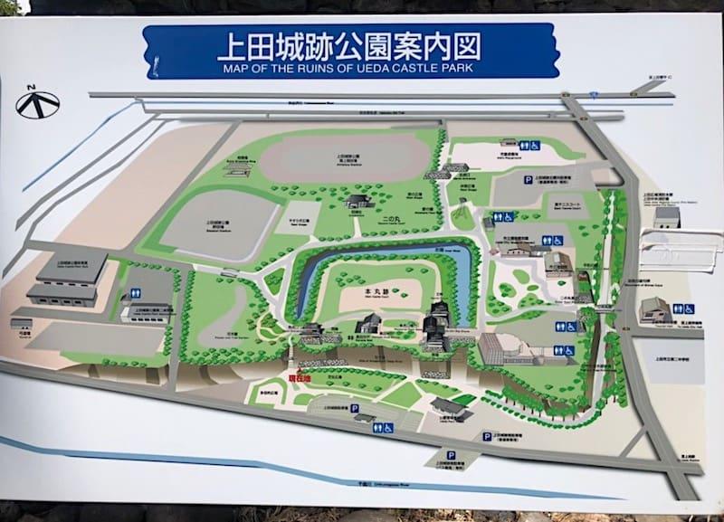 上田城址公園のマップ