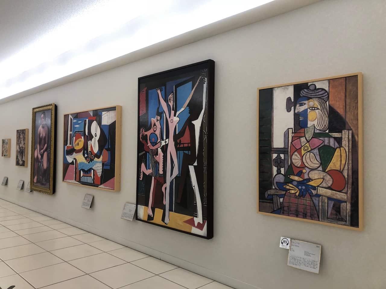 大塚美術館の現代アート展示エリア