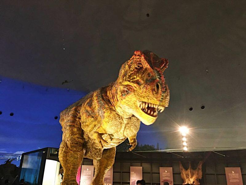 恐竜博物館の動く恐竜ジオラマ