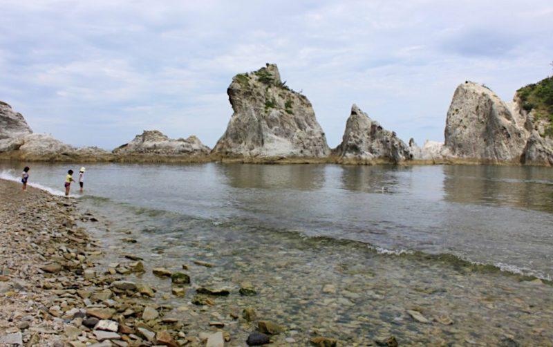 浄土ヶ浜の海水浴場
