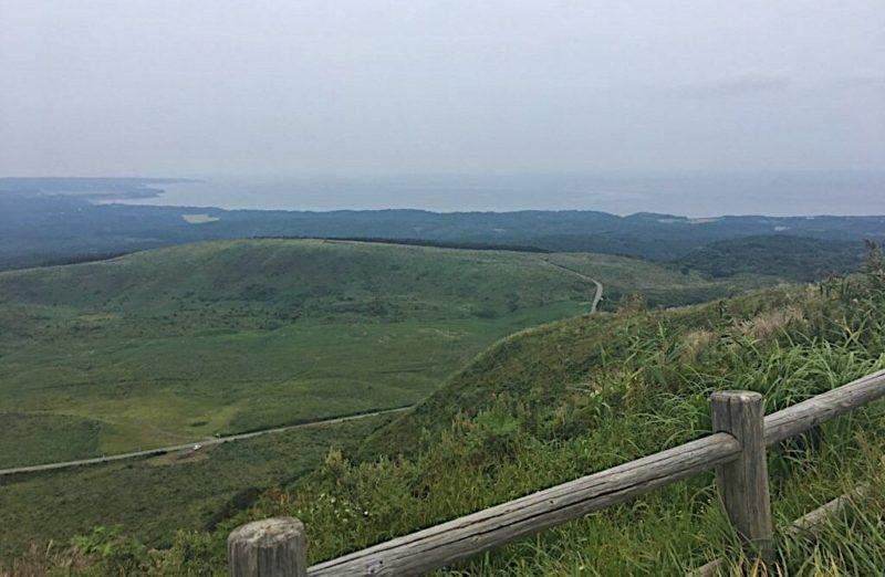 寒風山から見える日本海