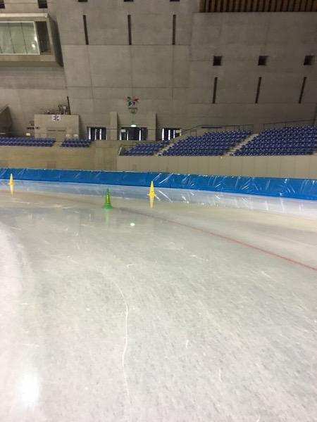 エムウェーブのスケートリンク