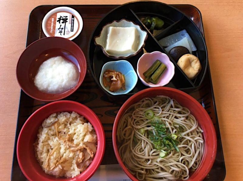 永平寺参道のお食事