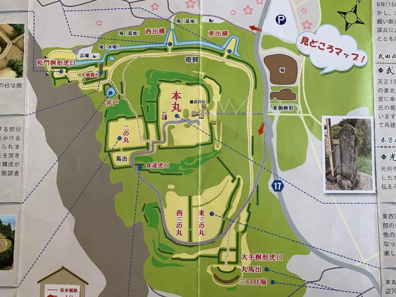 新府城の地図