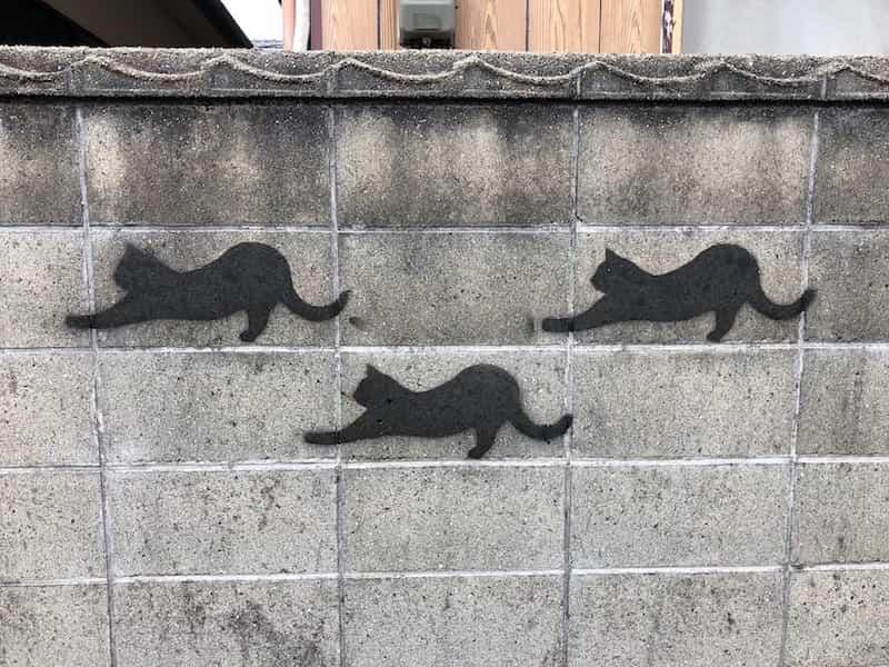 直島の本村エリアのブロック塀