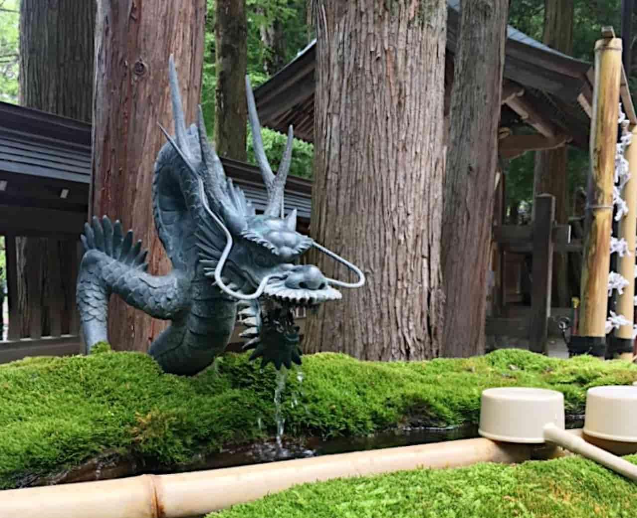 諏訪大社の竜神
