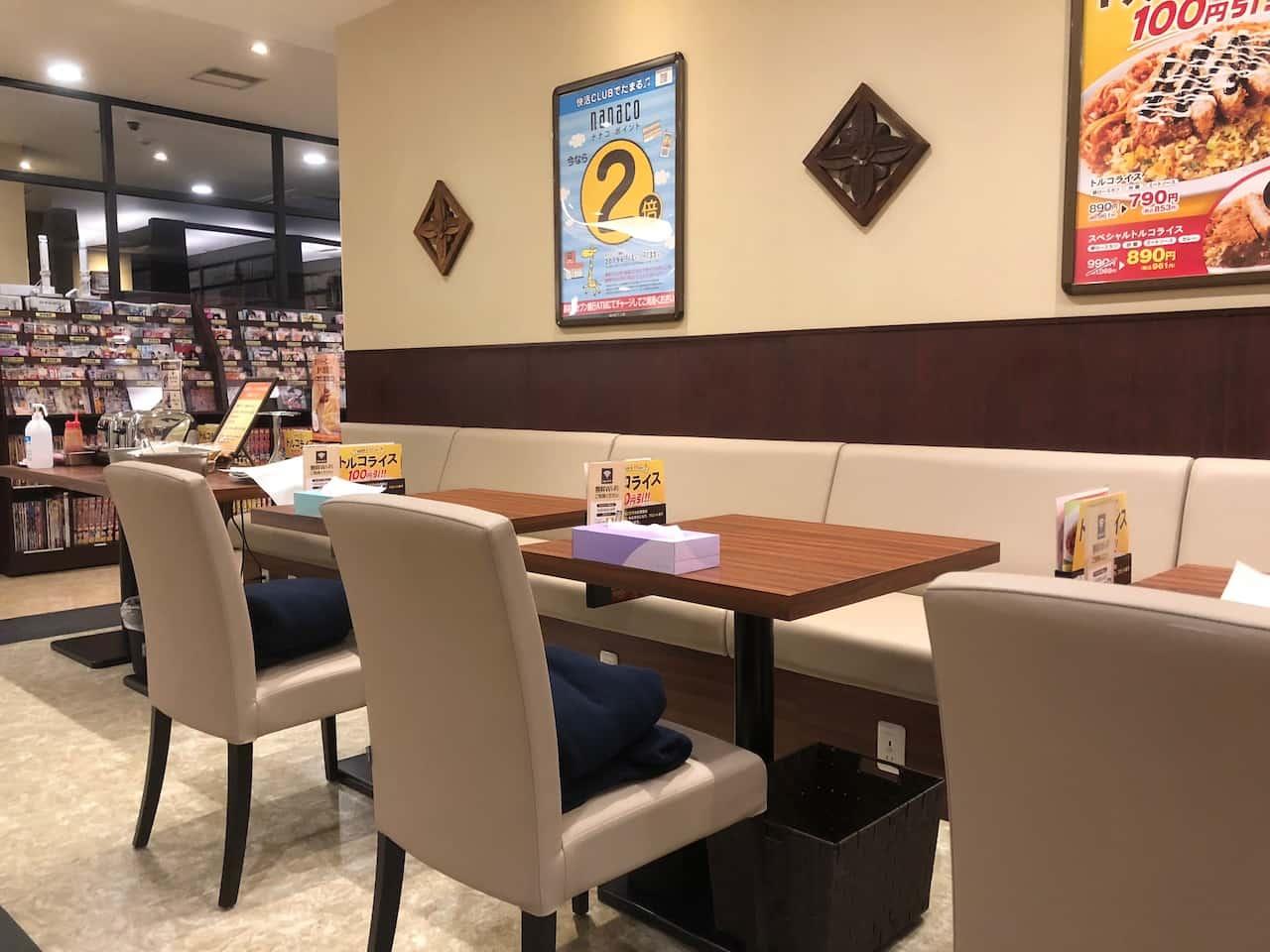 快活クラブのオープンシート(飲み放題カフェ)