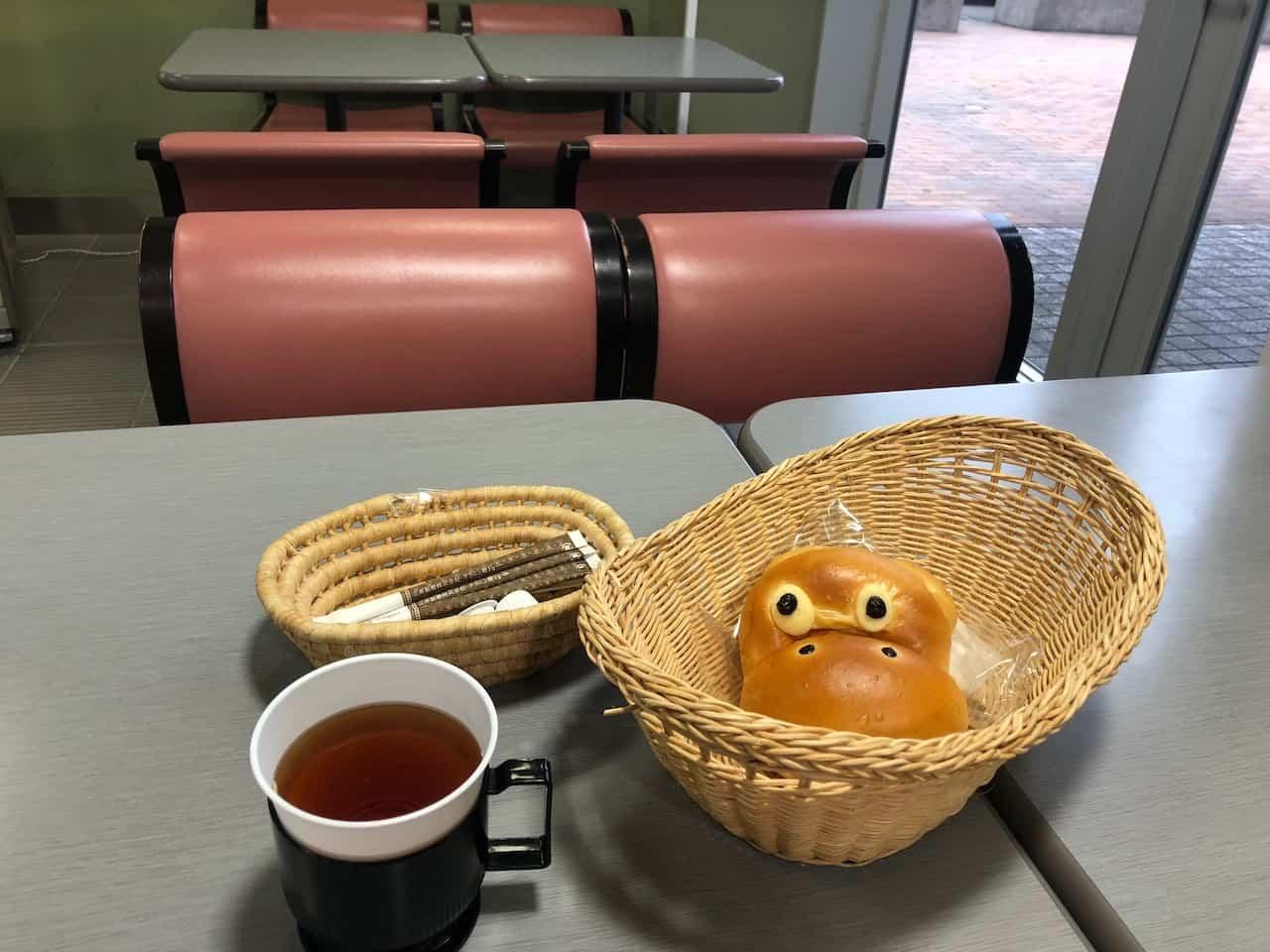 かしわハンズのかばのパンと紅茶