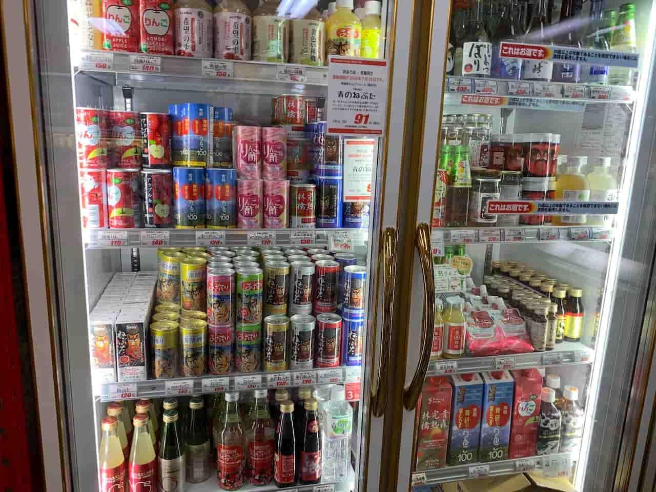 青森りんごジュースコーナー
