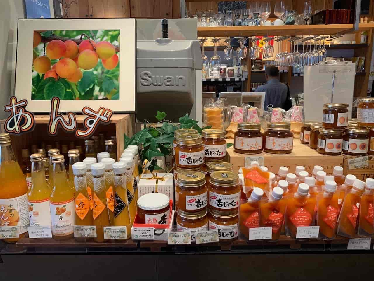銀座NAGANOの旬の果物を使った商品