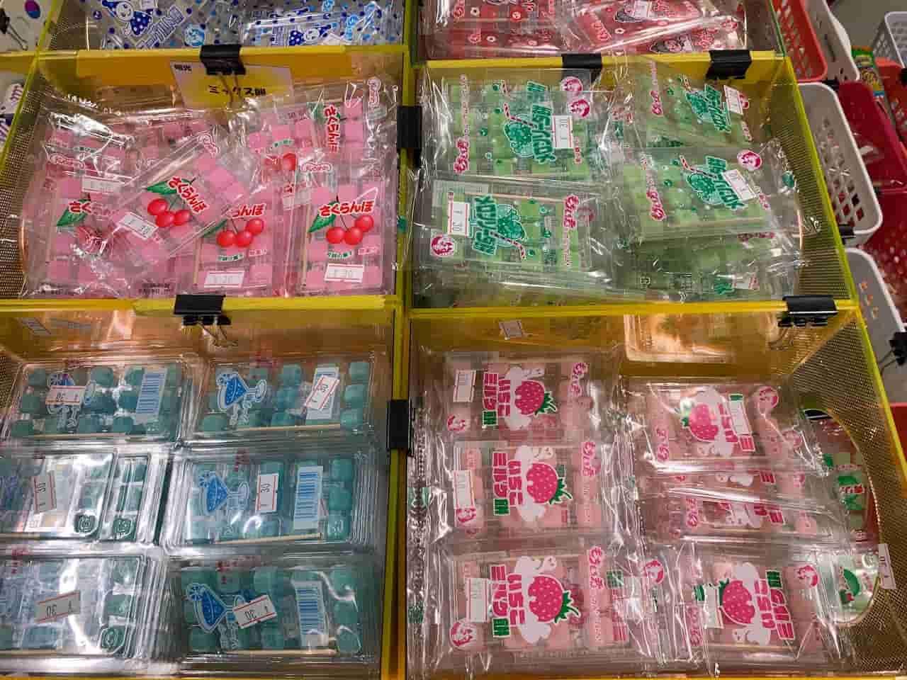 パッケージ単位で売られている駄菓子