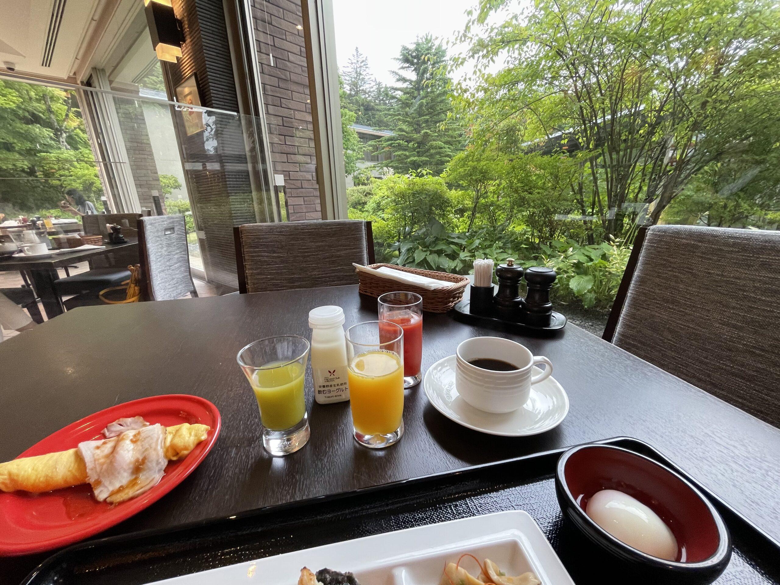 ハーヴェスト旧軽井沢の朝食