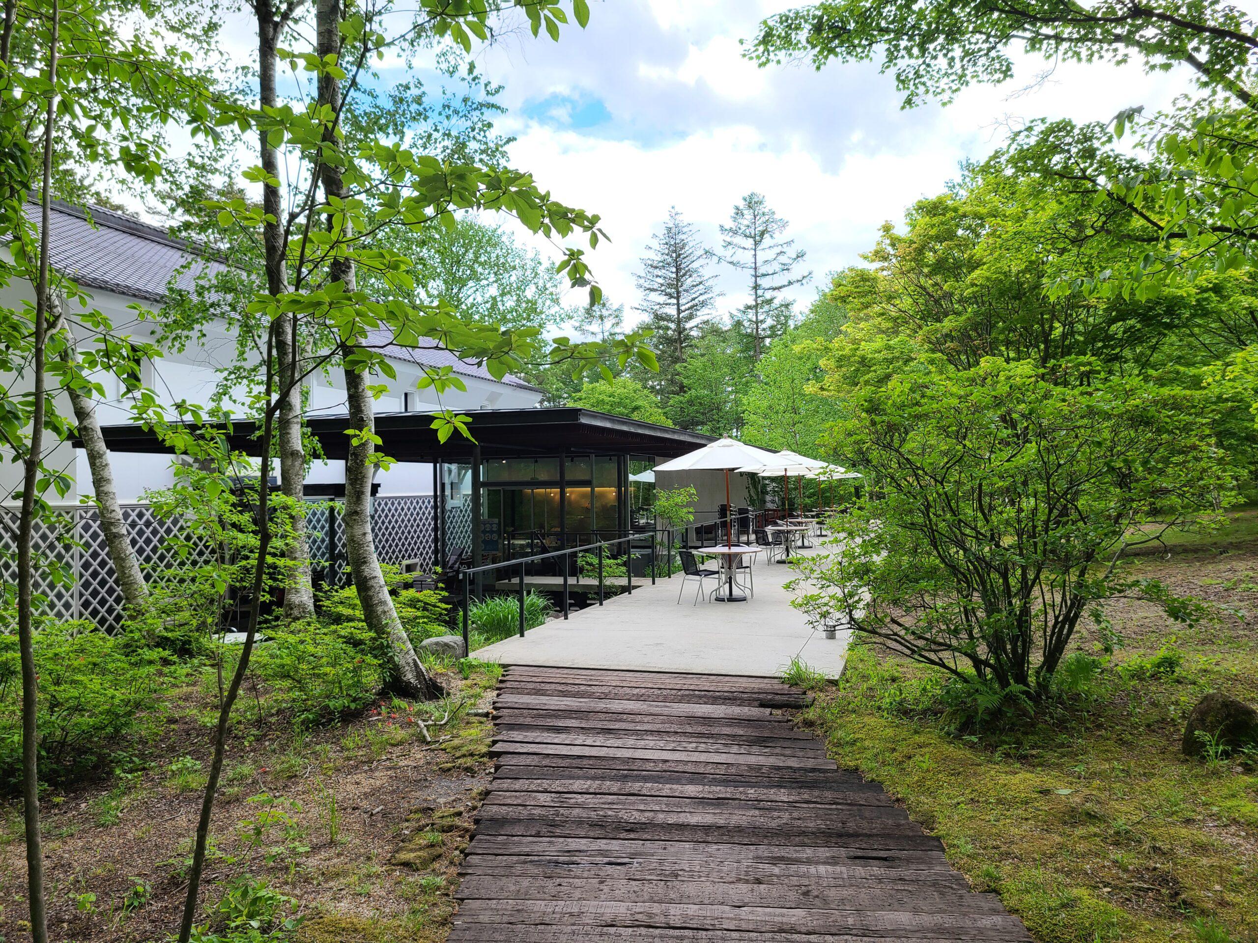 養命酒健康の森内のヒーリングカフェ